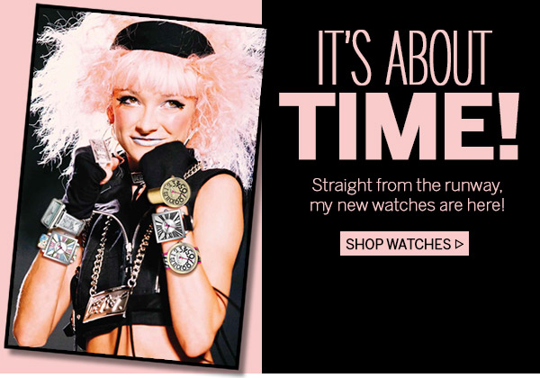 It's About Time! Shop Runway Watches