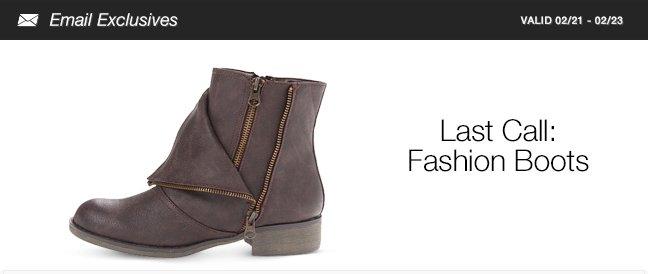 Last Call: Fashion Boots
