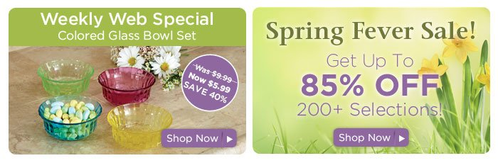 Weekly special & Spring Fever Sale