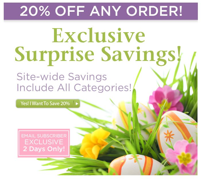 Exclusive Surprise Sale for Our Email Subscribers — 2 Days Only!