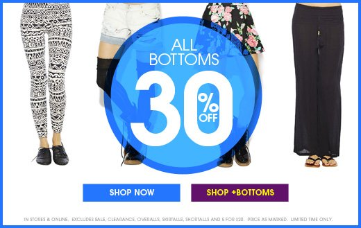 All Bottoms 30% OFF
