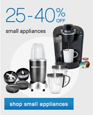 Up to 50% off small appliances. Shop small appianaces.