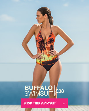 Buffalo Multi Coloured Tropical Print Swimsuit £38