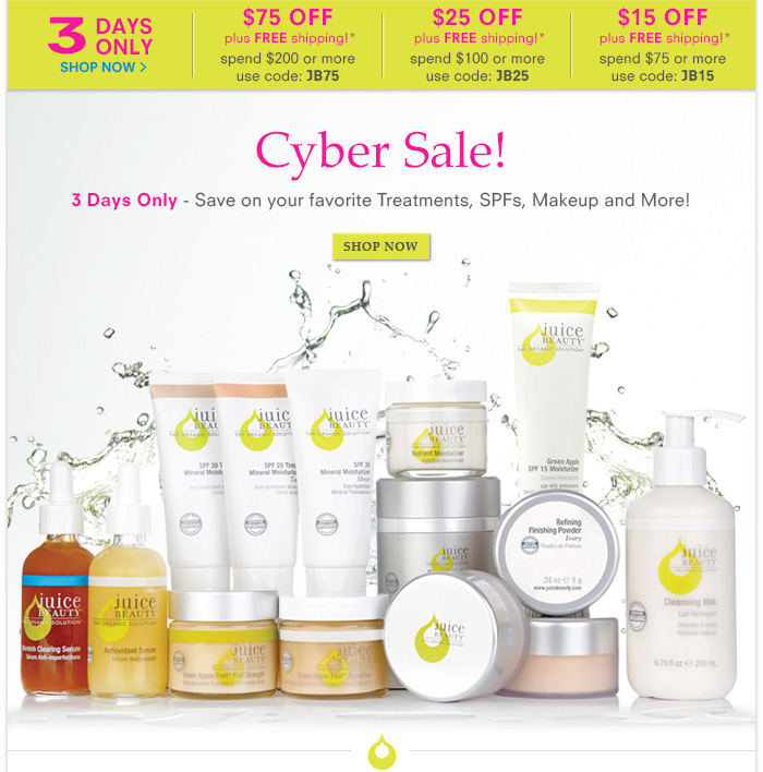 3 Days Only - Save on your favorite Treatments, SPFs, Makeup and More!
