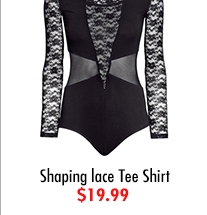 Shaping lace Tee Shirt $19.99