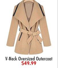 V-Neck Oversized Outercoat $49.99