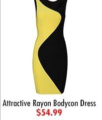 Attractive Rayon Bodycon Dress $54.99