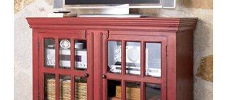 Rojo Red 46 inch Media Storage Cabinet
