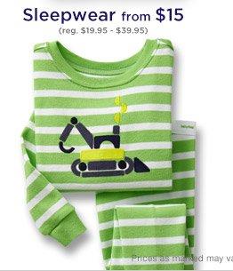 Sleepwear from $15