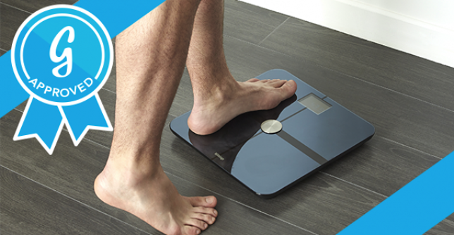 "In addition to its beautiful design and ""pinpoint accuracy,"" this scale works in concert with a well-designed mobile app to track data and users' weight loss goals, providing alerts, reminders, and tips."