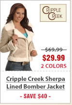 Cripple Creek Sherpa Lined Bomber Jacket