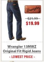Wrangler 13MWZ Original Fit Rigid Jeans