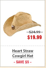 Heart Straw Cowgirl Hat