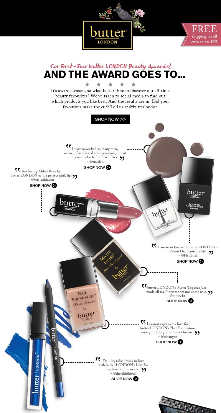 Our First-Ever butter LONDON Beauty Awards!