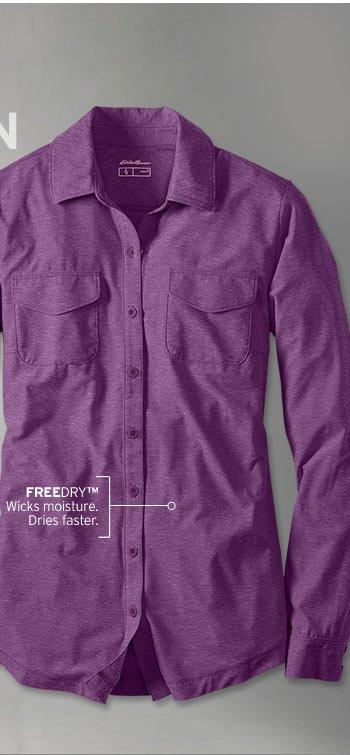 Shop Women's FreeDry Infinity Button Down Shirt