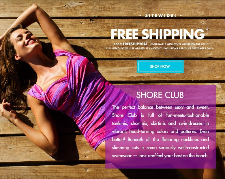 Sitewide FREE Shipping - use code: FREESHIP2014 - shop now