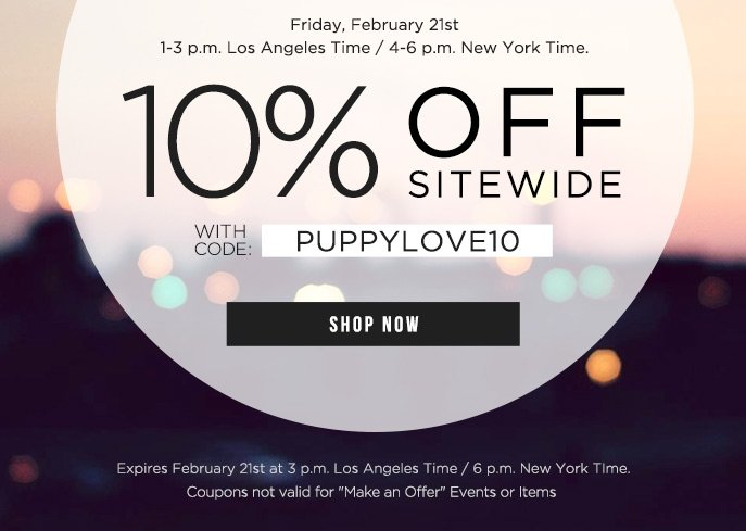 Happy Hour - 10% Off