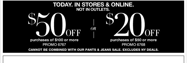 Today, use this coupon in stores & online!