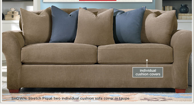 Stretch Pique Individual Cushion