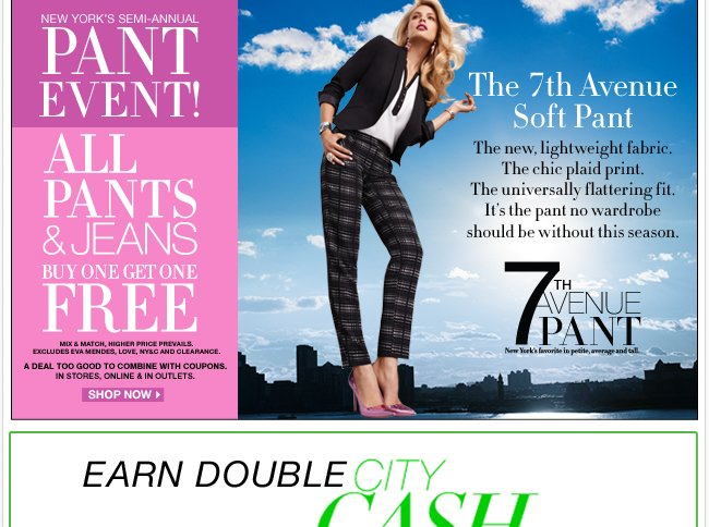 All Pants & Jeans B1G1 Free plus all Jewery is B1G1 Free!