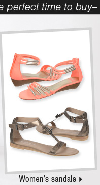 It's the perfect time to buy womens  sandals