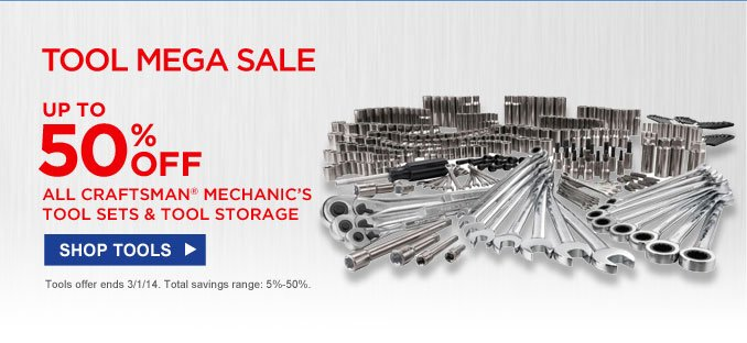 TOOL MEGA SALE | UP TO 50% OFF ALL CRAFTSMAN MECHANIC'S TOOL SETS & TOOL  STORAGE | SHOP TOOLS