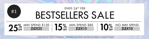 Up to 25% off our bestsellers!