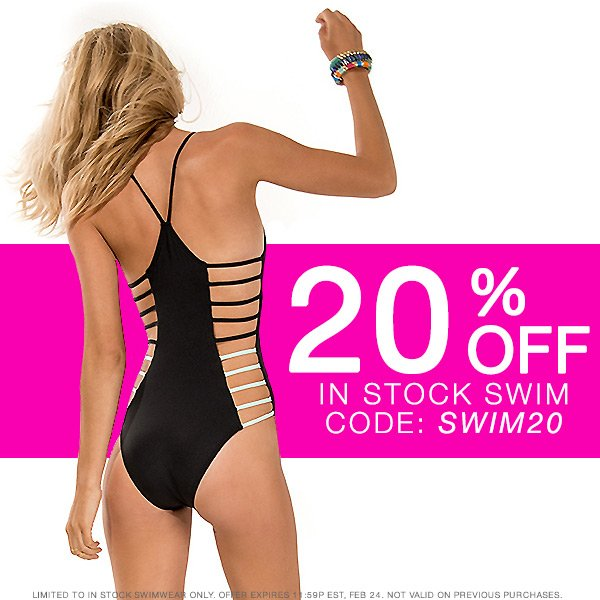 Take 20% off in stock swim with code SWIM20.