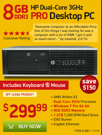8GB Dual Core PC