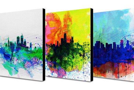 Naxart Watercolor Skylines