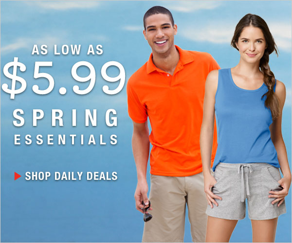 Get Spring Essentials for as low as $5.99