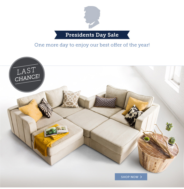 Last Chance! Presidents' Day Sale - One More Day to Enjoy Our Best Offer of the Year!