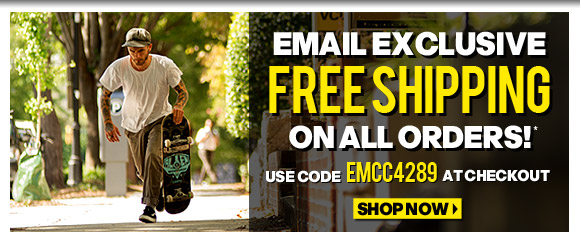 Exclusive Email Offer! Free Shipping On ALL Orders!*