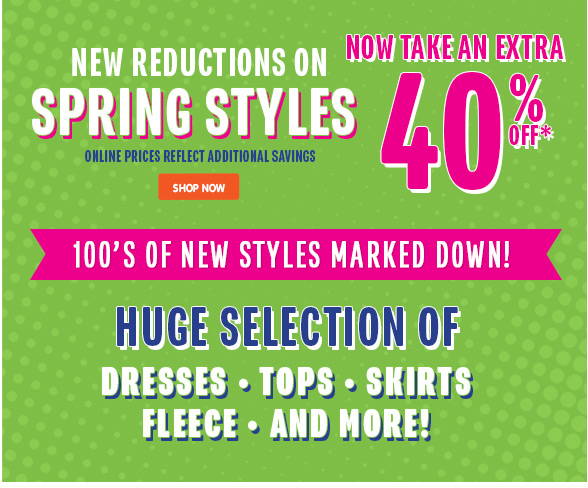 Spring Styles - New Reductions!