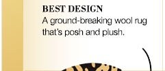 BEST DESIGN | A ground-breaking wool rug that's posh and plush.
