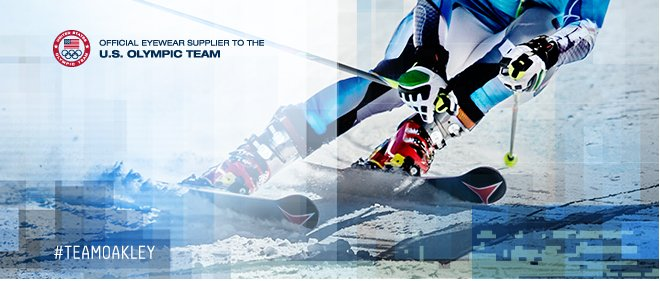 OFFICIAL EYEWEAR SUPPLIER TO THE U.S. OLYMPIC TEAM. #TEAMOAKLEY