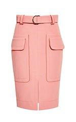 Carnation Belted Patch Pocket Skirt