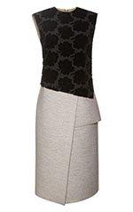 Rose Velvet Jacquard Faille Dress