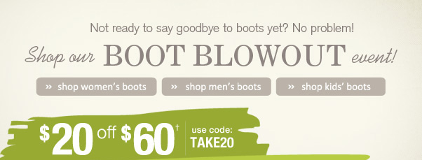 Boot Blowout!