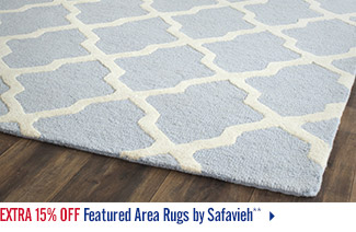 Extra 15% off Featured Area Rugs by Safavieh**