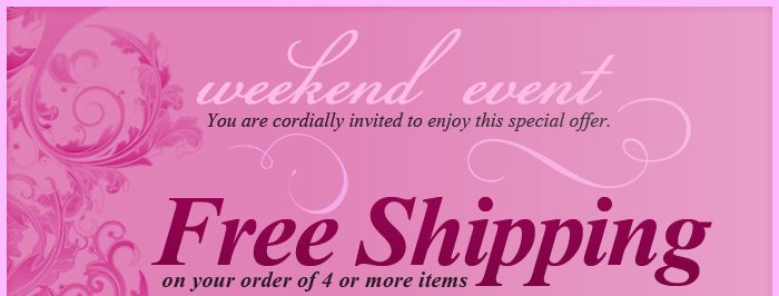Free Shipping on your order of 4 or more items