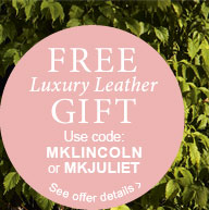 Free Luxury Leather Gift* with your next order