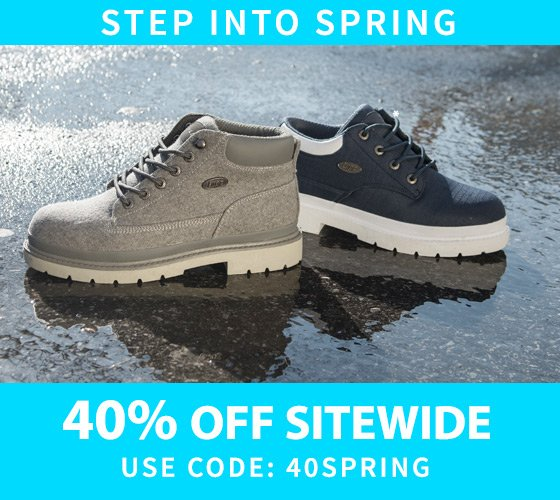Step into Spring 40% Off Sitewide