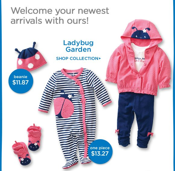Welcome your newest arrivals with ours! Ladybug Garden. Shop Collection.