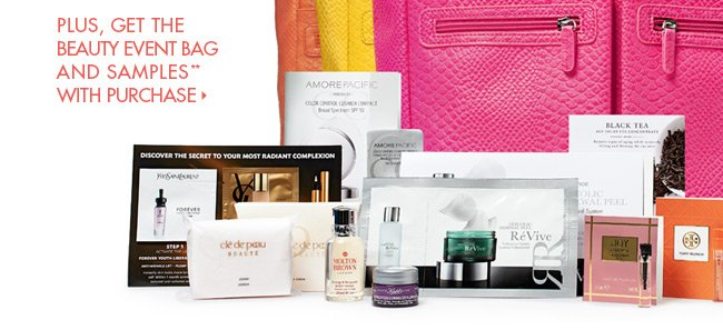 Limited-Time Beauty Gifts + FREE bag!