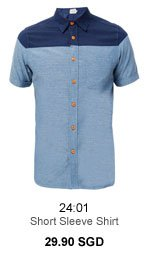 Short Sleeve Shirt with Cut and Sew 29.90SGD
