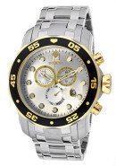Men's Pro Diver Chronograph Silver Dial Stainless Steel
