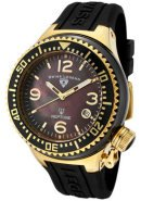 Neptune Ceramic (44 mm) Black Mother of Pearl Dial Gold Tone Black Silicone