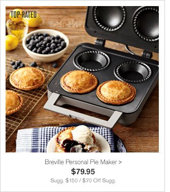TOP-RATED - Breville Personal Pie Maker - $79.95 - Sugg. $150 / $70 Off Sugg.