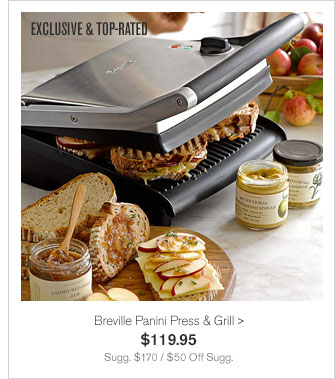 EXCLUSIVE & TOP-RATED - Breville Panini Press & Grill - $119.95 - Sugg. $170 / $50 Off Sugg.